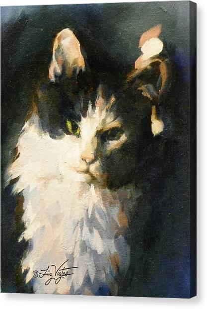Portrait Of Buffy Detail Three Canvas Print