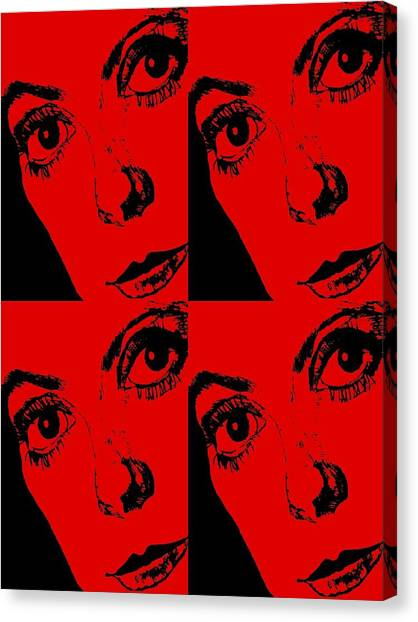 Portrait Of Catherine Pop Art Design Canvas Print