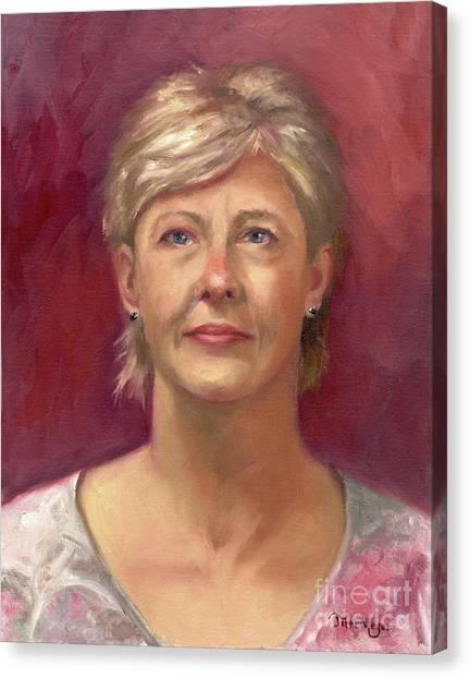 Portrait Of Cheryl Canvas Print by Terri  Meyer
