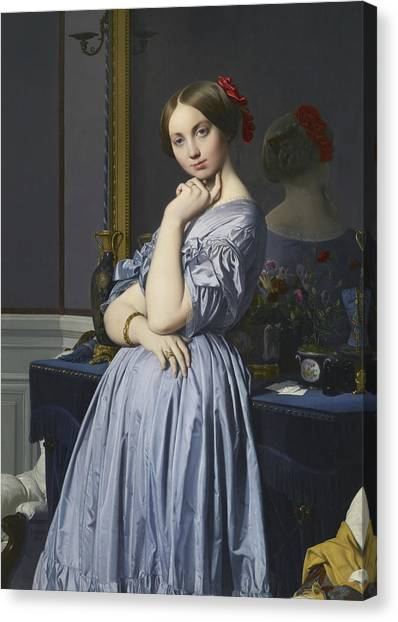 Neoclassical Art Canvas Print - Portrait Of Comtesse D'haussonville by Jean-Auguste-Dominique Ingres