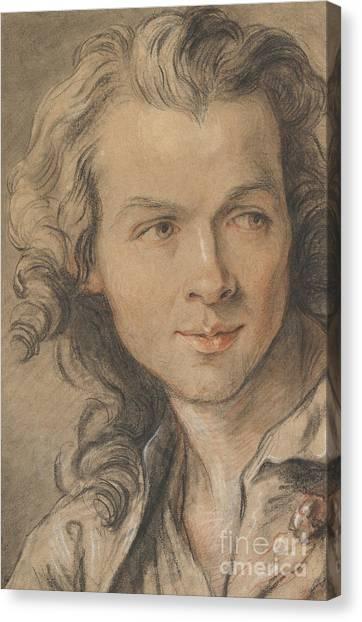 Sculptors Canvas Print - Portrait Of Etienne Maurice Falconet  by Jean-Baptiste II Lemoyne