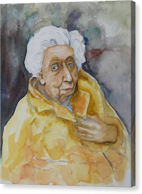 Portrait Of Eudora Welty   Canvas Print by Dan Earle