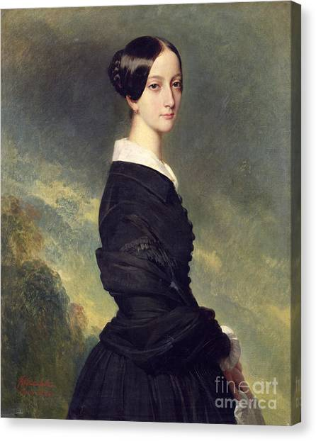 Black Widow Canvas Print - Portrait Of Francisca Caroline De Braganca by Franz Xaver Winterhalter