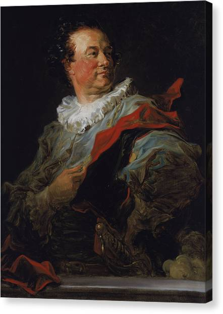 Rococo Art Canvas Print - Portrait Of Francois-henri D'harcourt by Jean-Honore Fragonard