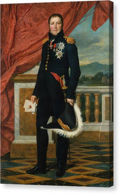 Neoclassical Art Canvas Print - Portrait Of French Politician And Soldier Etienne Maurice Gerard by Jacques-Louis David