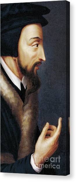 Pastor Canvas Print - Portrait Of French Theologian And Religious Reformer, John Calvin  by Henriette Rath