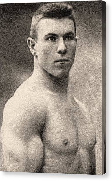 Mma Canvas Print - Portrait Of George Hackenschmidt by English School