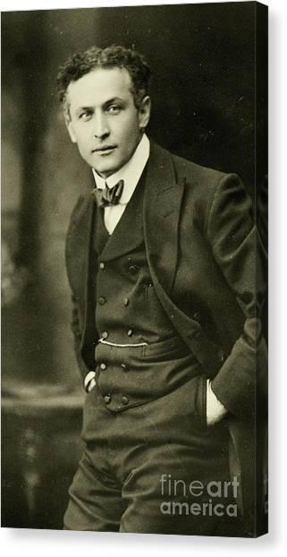 Jewish Artist Canvas Print - Portrait Of Harry Houdini, 1913 by American School