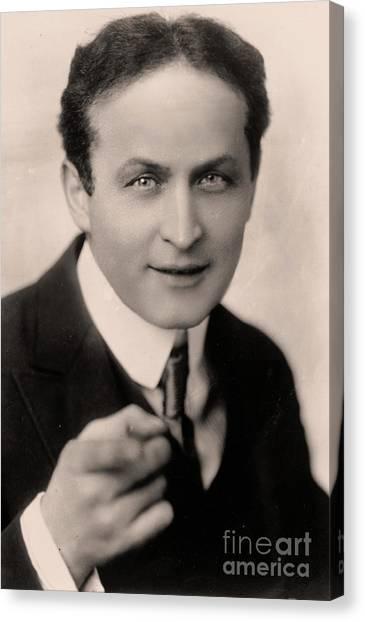 Jewish Artist Canvas Print - Portrait Of Harry Houdini by American School