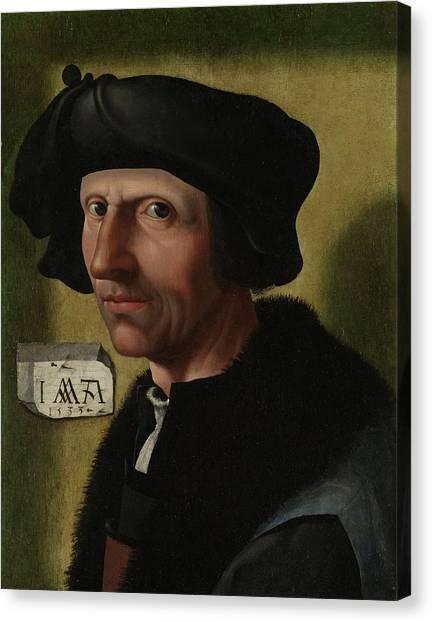 Portrait Of Jacob Cornelisz Van Oostsanen Canvas Print