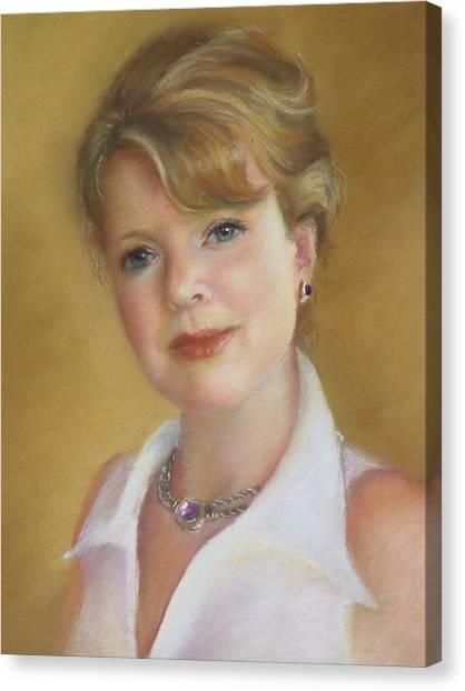 Portrait Of Jeanie Canvas Print by Melanie Miller Longshore