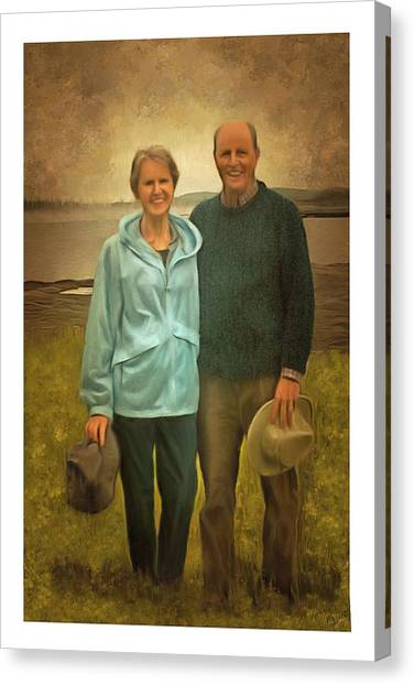 Portrait Of Joe And Denise Canvas Print
