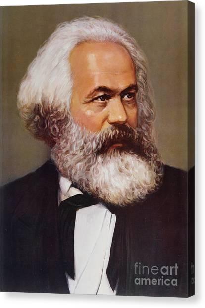 Academic Art Canvas Print - Portrait Of Karl Marx by Unknown