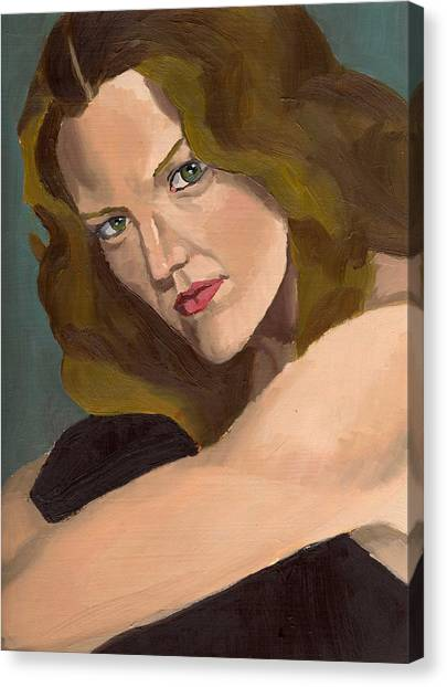 Portrait Of Kathy Arvidson Canvas Print