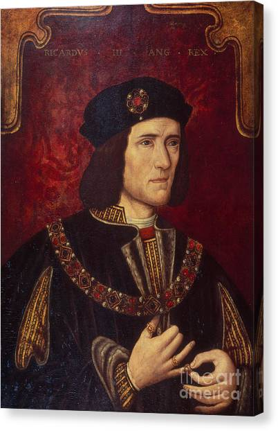 Rulers Canvas Print - Portrait Of King Richard IIi by English School