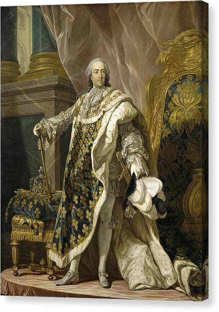 Rococo Art Canvas Print - Portrait Of Louis Xv Of France by Louis-Michel van Loo