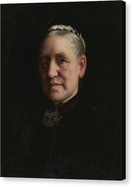 Peel Canvas Print - Portrait Of Madam Verdier  by Paul Peel