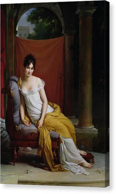 Simon Canvas Print - Portrait Of Madame Recamier by Francois Pascal Simon Gerard