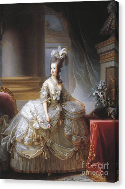 Ostriches Canvas Print - Portrait Of Marie Antoinette by Elisabeth Louise Vigee-Lebrun