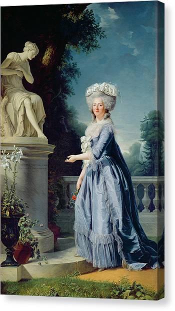 Statue Portrait Canvas Print - Portrait Of Marie-louise Victoire De France by Adelaide Labille-Guiard