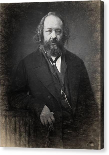 Libertarian Canvas Print - Portrait Of Mijail Bakunin  by Joaquin Abella