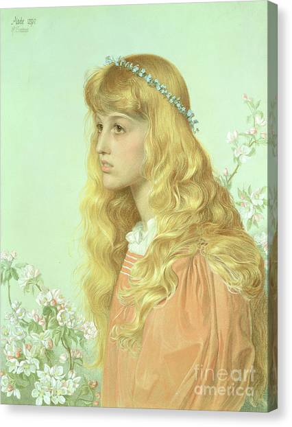 Adele Canvas Print - Portrait Of Miss Adele Donaldson, 1897 by Anthony Frederick Augustus Sandys