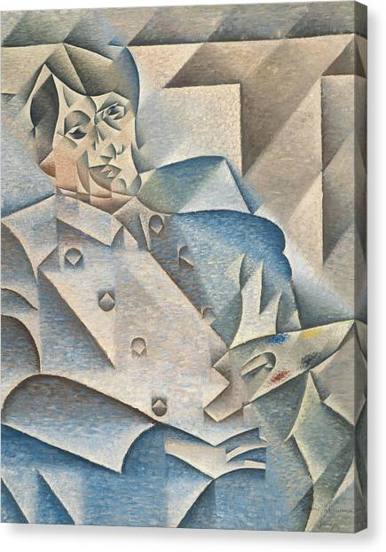 Pablo Picasso Canvas Print - Portrait Of Pablo Picasso by Juan Gris