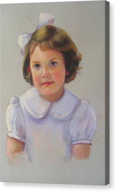 Portrait Of Polly Canvas Print by Melanie Miller Longshore