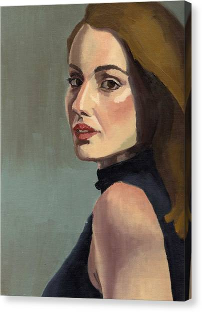 Portrait Of Rachel Christine Canvas Print
