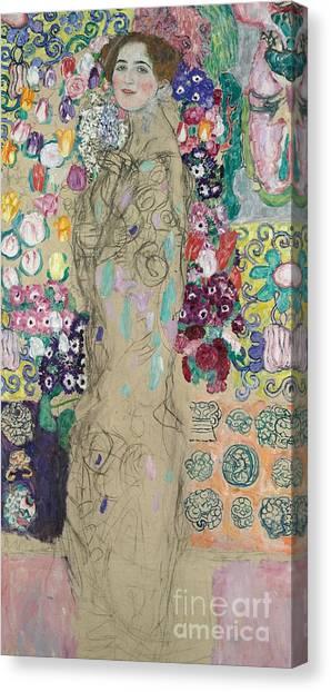Gustav Klimt Canvas Print - Portrait Of Ria Munk IIi by Gustav Klimt