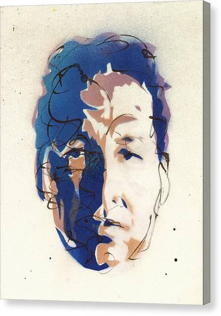 Jasper Johns Canvas Print - Portrait Of Robert Rauschenberg by Ryan  Hopkins