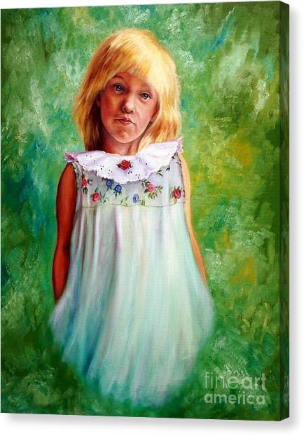 Portrait Of Sara Canvas Print