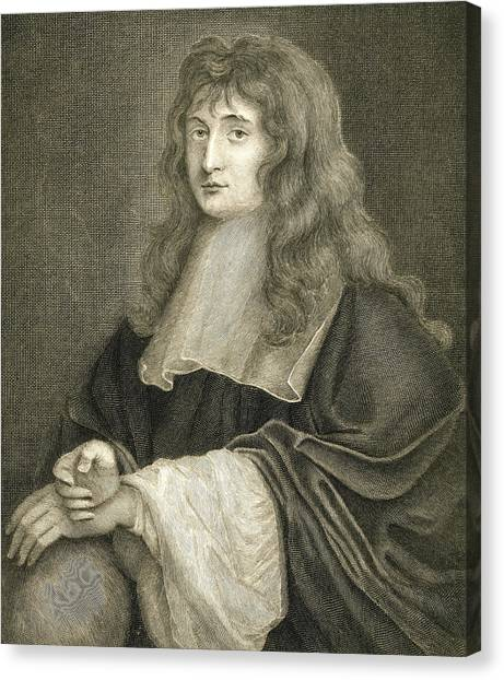 Long Hair Canvas Print - Portrait Of Sir Isaac Newton by Sir Peter Lely