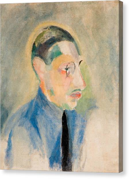 Divisionism Canvas Print - Portrait Of Stravinsky by Robert Delaunay