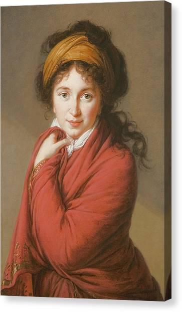 Hairstyle Canvas Print - Portrait Of The Countess Nikolai Nikolaevich Golovin by Elisabeth Louise Vigee-Lebrun