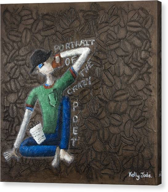 Coffee Beans Canvas Print - Portrait Of The Crazy Poet by Kelly Jade King