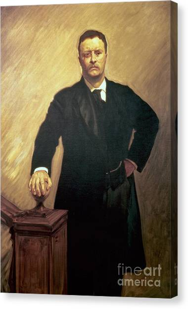 Crt Canvas Print - Portrait Of Theodore Roosevelt by John Singer Sargent