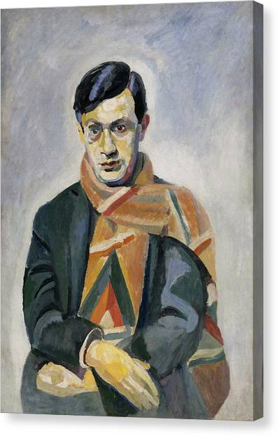 Lyrical Abstraction Canvas Print - Portrait Of Tristan Tzara by Robert Delaunay