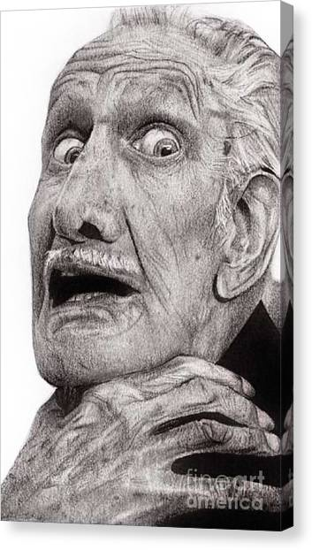 Portrait Of Vincent Price Canvas Print by Carrie Jackson