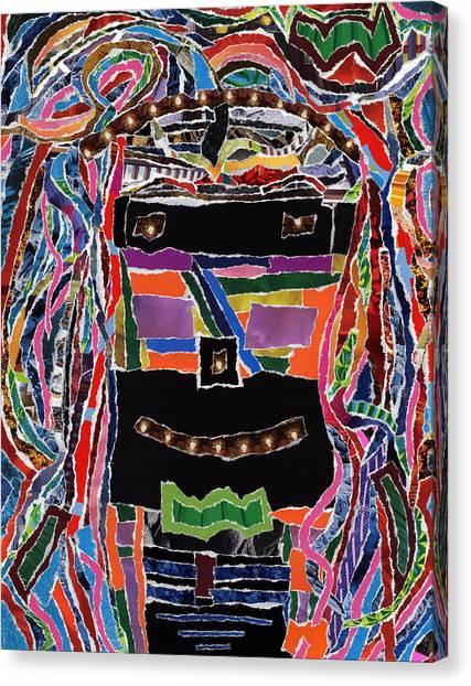 portrait of who   U  Me       or      someone U see  Canvas Print