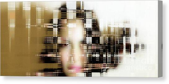 Portrait With Applied Ai  Canvas Print by Steven Digman