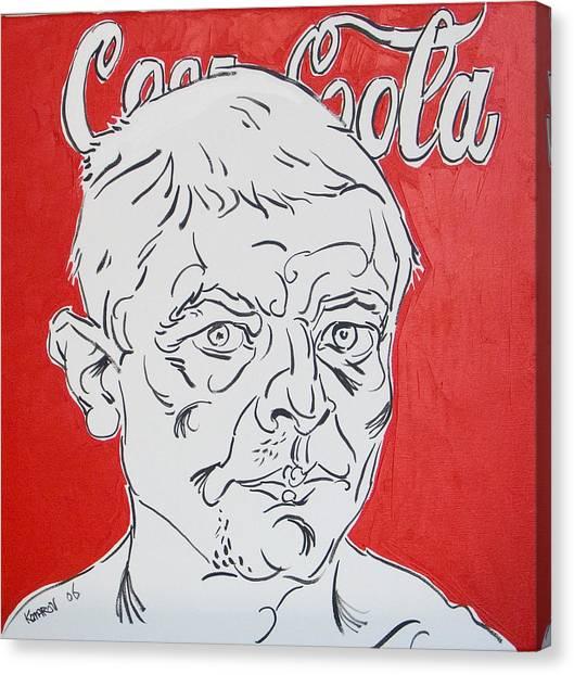 Portrait With Coca Cola Canvas Print by Vitali Komarov