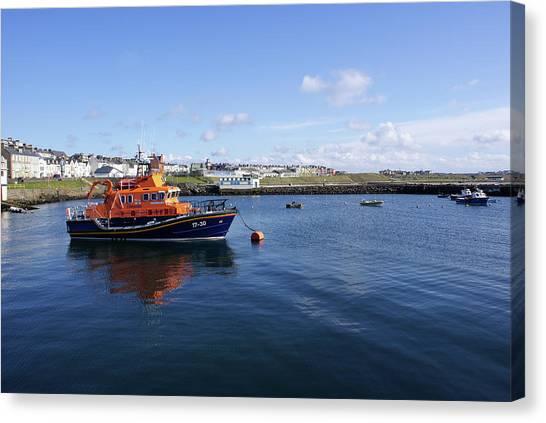 Portrush Rnli Lifeboat Canvas Print