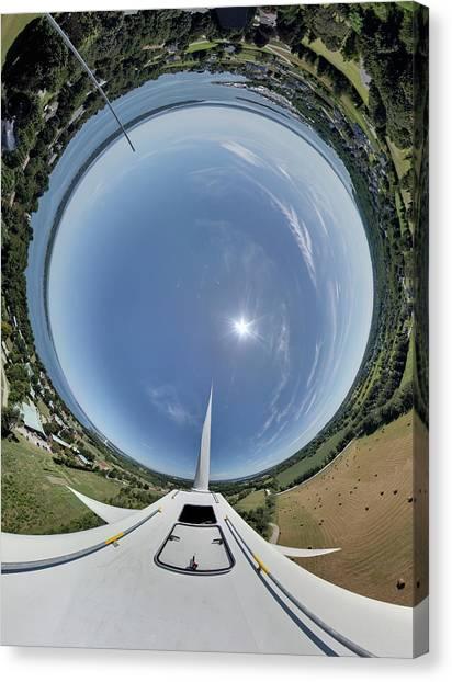 Portsmouth Abbey Wind Turbine Tunnel View Canvas Print by Christopher Blake