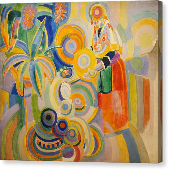 Divisionism Canvas Print - Portuguese Woman by Robert Delaunay