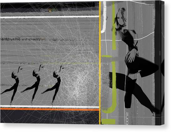 Acrobatic Canvas Print - Pose And Jump by Naxart Studio