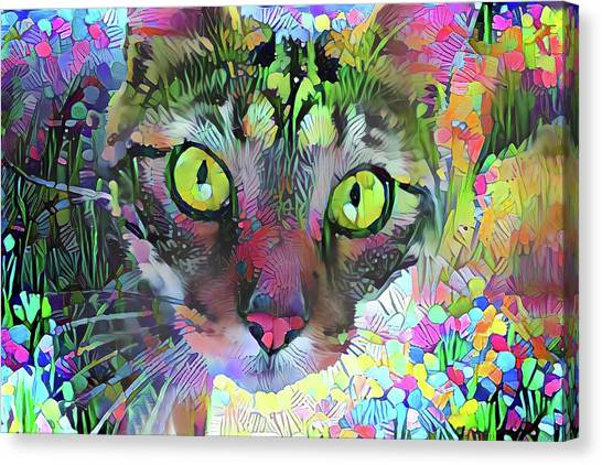Posie The Tabby Cat Canvas Print
