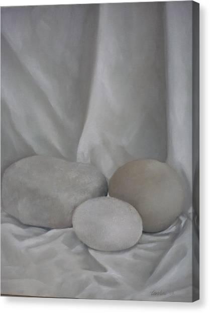 Posing Pebbles Canvas Print