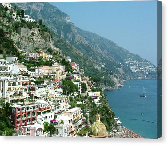Positano In The Afternoon Canvas Print