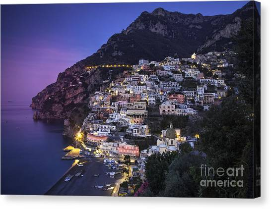 Positano Twilight Canvas Print